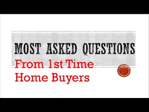 Questions to Review for First-Time Home Buyers